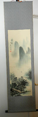 ORIGINAL Chinese vintage hand painted landscape scroll