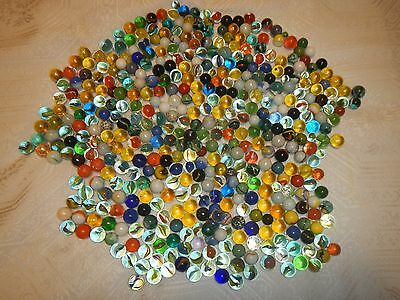 "Vintage Marbles 1/2"" to 3/4"" Lot of 453"