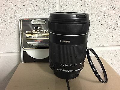 Canon EF-S 18-135mm f/3.5-5.6 IS camera Lens + Hoya filter - excellent condition
