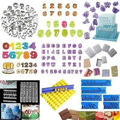 Alphabet Letter Number Fondant Cookie Cutter Mould Cake Decorating Baking Tool