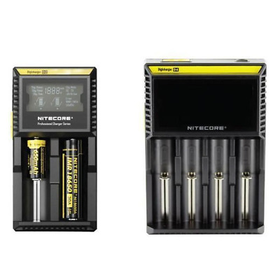 Nitecore D2 D4 Digicharger Lithium Li Ion Battery Charger Smart Electric