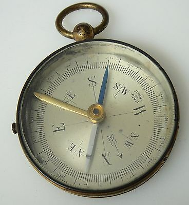 Small Vintage/Antique Brass Pocket Compass-Made in France