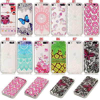 Unicorn Owl Rubber Slim Soft Tpu Gel Skin Case Cover For iPod Touch 5 5th 6 6th
