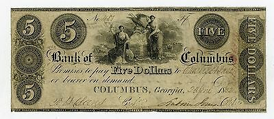 1832 $5 The Bank of Columbus, GEORGIA Note