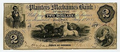 1855 $2 The Planters and Mechanics Bank of Dalton, GEORGIA Note