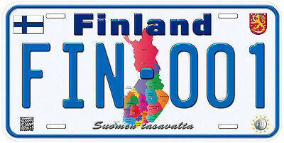 Finland Aluminum Any Text Personalized Novelty Car License Plate