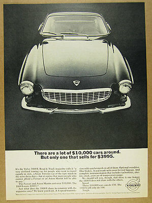 1965 Volvo 1800S 1800-S 'only one that sells for $3995' photo vintage print Ad