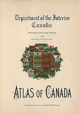 2 ATLASES CANADA maps old GENEALOGY statistics history immigrants atlas DVD