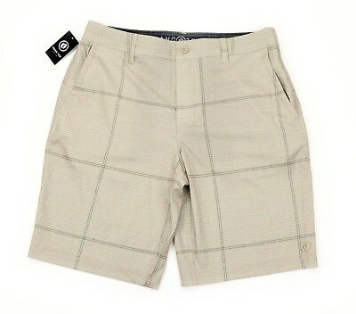 028a9ac4b65dd HANG TEN MENS Cruze Khaki Tan Casual Walking Shorts Quick Dry 34 NEW ...