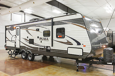 New 2016 Puma 28FQDB Bunkhouse Travel Trailer with Bunks & Outdoor Kitchen