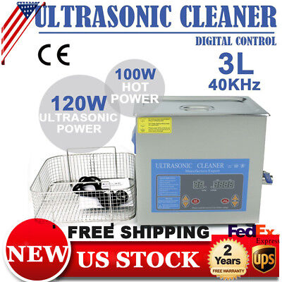 3L Ultrasonic Cleaner Cleaning Dental Equipment Industry Cleaner Heater w/ Timer
