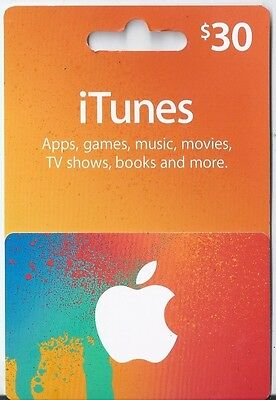 $30 iTunes Gift Card