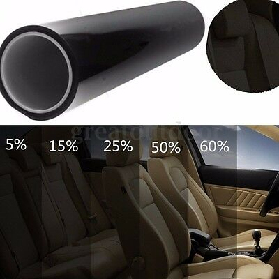 5%-50% Black Window Glass Tint Film VLT Roll Auto Car Office Commercial 3m-30m