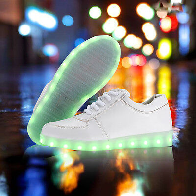 Luminous  Unisex Casual LED Shoes Light Up Sportswear Lace-Up Sneaker