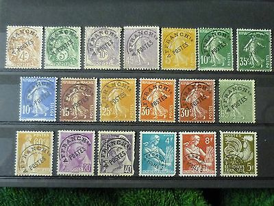 FRANCE 1930 - 1955 collection of Pre-cancelled issues vf used SG 292-1199a