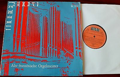 Old French Organ Masters Lp Chapuis Musica Sacra Ams 30 (1961) Germany Ex