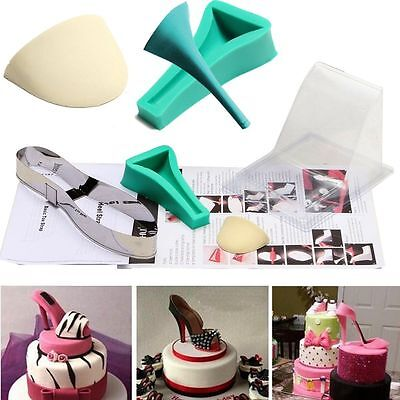High heel shoe kit silicone fondant cake template mold mould decorating wedding