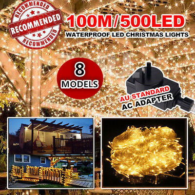 100M 500LED Fairy LED String Light Outdoor Party Garden Decorative Waterproof