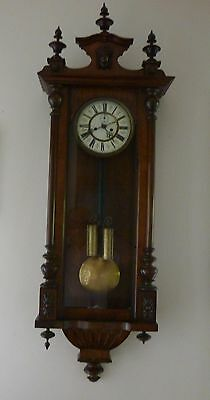 A Fine Double Weight  Weight Viena Wall Clock