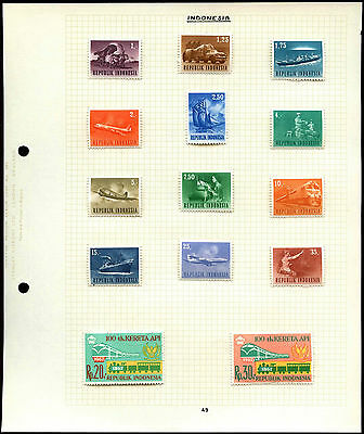 Indonesia Transport Album Page Of Stamps #V4523