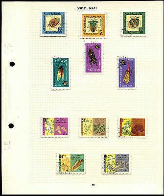 Vietnam Album Page Of Stamps #V4489