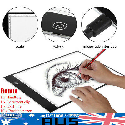 A3 LED Light Box Tracing Board Design Stencil Pattern Drawing Pad Copy Lightbox