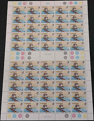 Gambia 1983, 3B River Craft MNH Complete Full Sheet Plate 1A, 1B #V4176