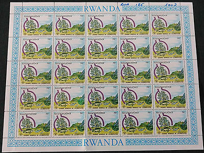 Rwanda 1982, 50c World Food Day, Fishes MNH Complete Full Sheet #V4134