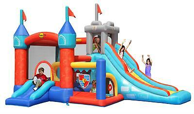 Duplay 13 in 1 Medieval Knights 16ft Bouncy Castle with Slides & Ball Pool