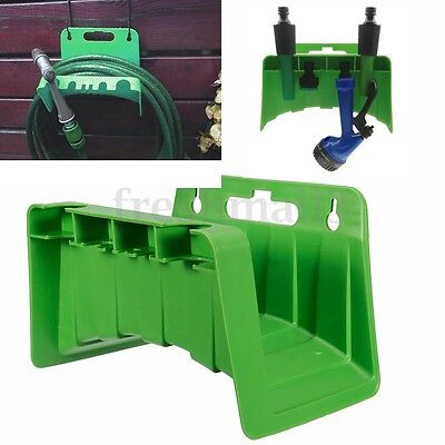 Wall Mounted Tap Hose Pipes Hanger Reel Storage Holder Garden Hosepipe Watering