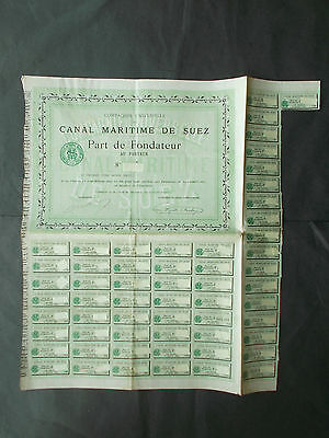 Suez Canal Founders Share  -  Ultra Rare  -  Only 2 Others Known