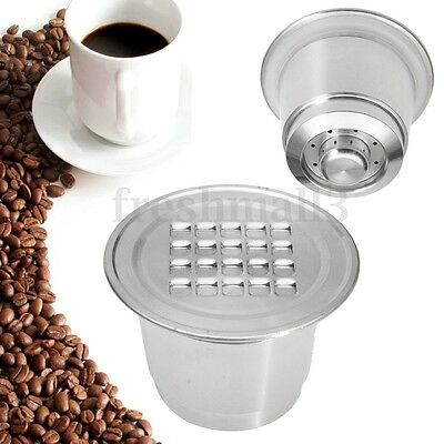 Stainless Steel Coffee Capsule Refillable Reusable Cups Pod For Nespresso