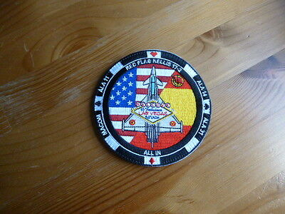 Patch USAF Typhoon RED FLAG 2017 ALA 11 & 14 Parche Fighter Spanish Original