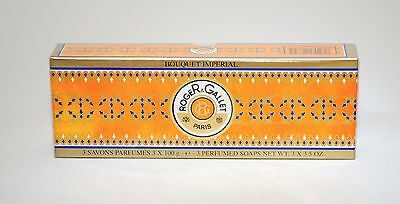 Roger & Gallet 3 Soap Box 100 Gr Each.bouquet Imperial.old Formula