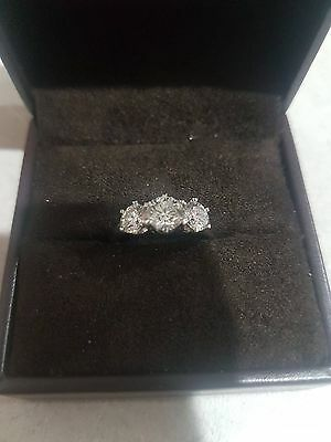 Engagement ring 18ct white gold 2ct brilliant cut diamonds appraised at $22050