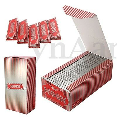 1 Box of 50 Booklets Moon Classic Cigarette Tobacco Rolling Papers 2500 Leaves