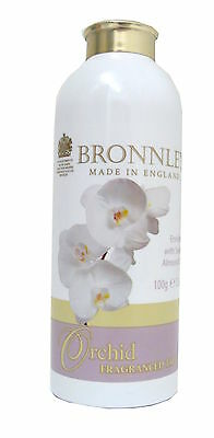 2x Bronnley Orchid Talcum Powder 100g