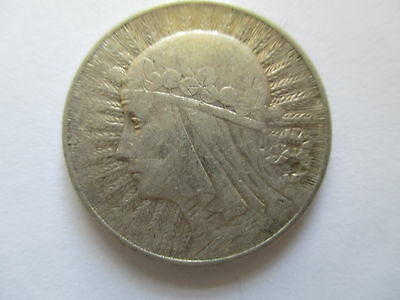 Poland Pre-Communist  Silver Coin ;5 Zloty Dated 1923 Gf
