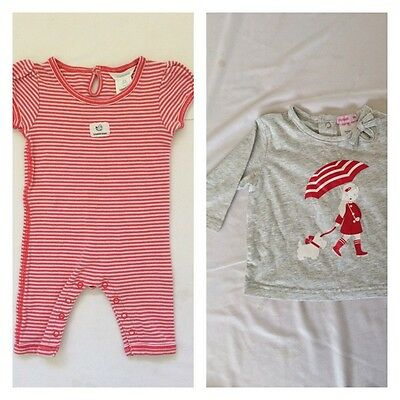 Country Road Baby Girl Romper Jumpsuit And Papoose Long Sleeve Top 0-3 Months
