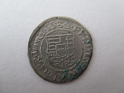 Hungary Late Medieval Silver Denar Coin Ferdinand I Dated 1530