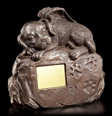 Dog Urn with Angel Figure and Engraving Plate - Animal Urn
