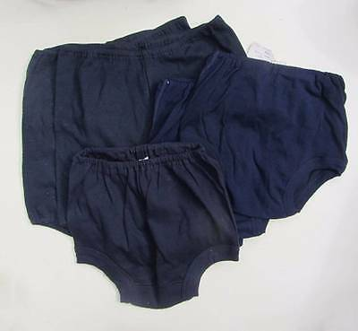 Girls vintage gym knickers small medium large navy blue black 60's new Ladybird