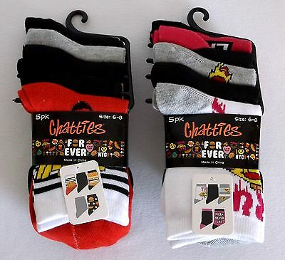 Chatties Lot of 10 Pairs of Girls Size 6-8 Crew Socks (2) 5pk Retail $25 Forever