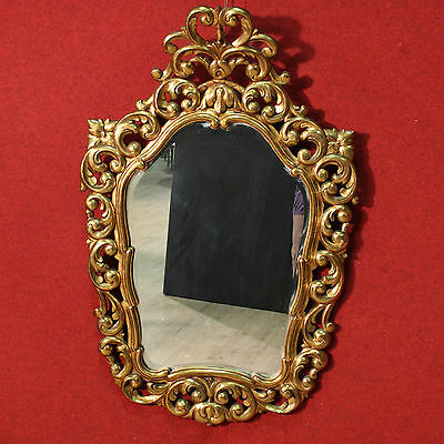 GRANDE MIRROR WOOD PAINT GOLDEN SPAIN PERIOD FIRST '900 (H 128 cm)