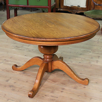 LOVELY TABLE RUSTIC PAINT OAK NORTH EUROPE YEARS '70 / '80 (D 116 cm)
