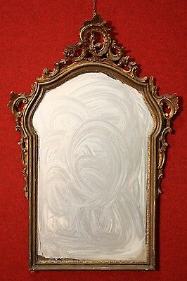 Mirror venetian wood painted lacquered golden style antique 800 XIX object decor