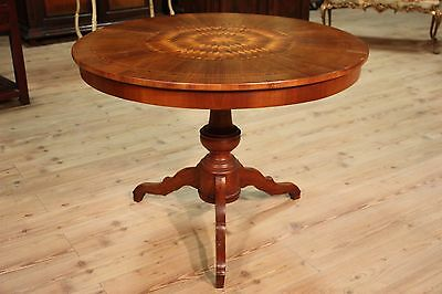 TABLE SORRENTINO INLAID NUT STEM CENTRAL ITALY FIRST '900 (D 105 cm)