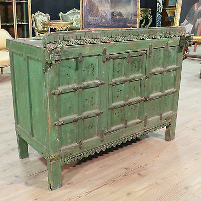 SPECIAL FURNITURE PAINT LACQUERED PANEL FRONT INDIA PERIOD FIRST '900 H 96 cm