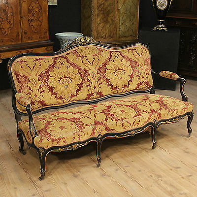 Sofa French Lacquered Golden Available Living Room France Period 900 Sofa Canapé
