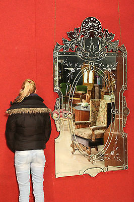 GRANDE MIRROR TASTE VENETIAN MIRRORS INLAID REPRODUCTION MODERN H202cm
